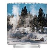 Geyser Trail Shower Curtain