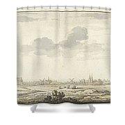 Gezicht Op Harderwijk Shower Curtain