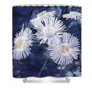 Ghost Flowers Shower Curtain