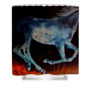 Ghost Horse Shower Curtain