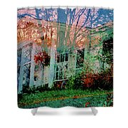 Ghost House Bold Shower Curtain