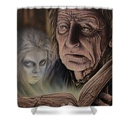 Ghost In The Book Shower Curtain
