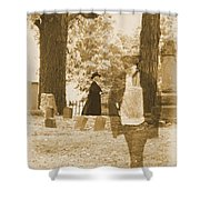 Ghost In The Graveyard Shower Curtain