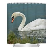 Ghost In The Lagoon Shower Curtain
