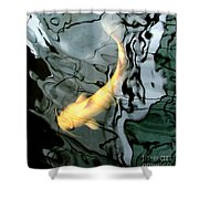 Ghost Koi Carp Fish Shower Curtain