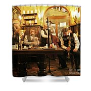 Ghost Musicians Shower Curtain