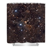 Ghost Nebula Shower Curtain