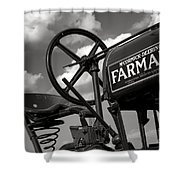 Ghost Of Farmall Past Shower Curtain