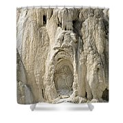 Ghost Of Mammoth Hot Springs Shower Curtain