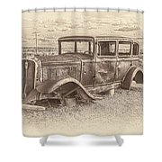 Ghost Of The Mother Road Shower Curtain