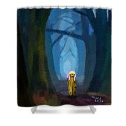 Ghost On The Road 419 Shower Curtain