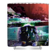 Ghost Regatta Shower Curtain
