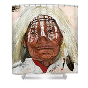 Ghost Shaman Shower Curtain