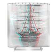 Ghost Ship - Use Red-cyan 3d Glasses Shower Curtain