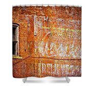 Ghost Sign Shower Curtain