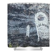 Ghost Town Boot Hill Shower Curtain