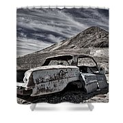Ghost Town Junked Car Shower Curtain