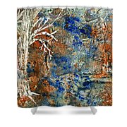 Ghost Trees Shower Curtain