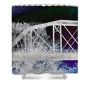 Ghostly Bridge Shower Curtain