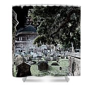Ghostly Cemetary Shower Curtain