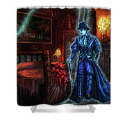 Ghostly Gentleman Visits A Friend Shower Curtain
