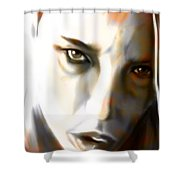 Ghostly Glance Shower Curtain