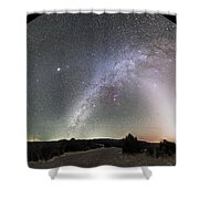 Ghostly Glows Of A Truly Dark Sky Shower Curtain