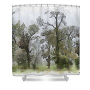 Ghostly Images Shower Curtain