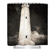 Ghostly Lighthouse Shower Curtain