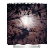 Ghostly Moon Shower Curtain