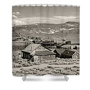 Ghostly Panorama Tobacco Shower Curtain