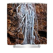 Ghostly Roots Shower Curtain
