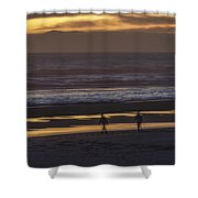 Ghostly Sunset Walk Shower Curtain