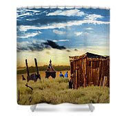 Ghostly Town 2 Shower Curtain