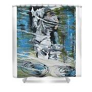 Ghostrider Reflection Shower Curtain