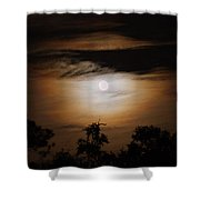 Ghosts Around The Moon Shower Curtain