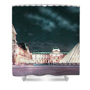 Ghosts Of The Louvre Museum 2  Art Shower Curtain