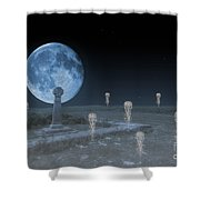 Ghosts On The Common Shower Curtain