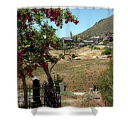 Ghosts Path To A Ghost Town Virginia City Nv Shower Curtain