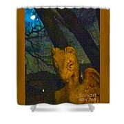 Ghoul And Full Moon 1 Shower Curtain