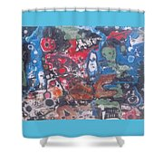 Ghoul Pool Shower Curtain