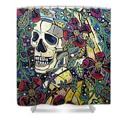 Ghoul With A Pearl Earring Shower Curtain
