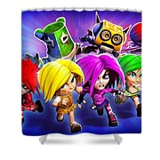 Giana Sisters Dream Runners Shower Curtain