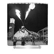 Giant Flamethrowing Praying Mantis Shower Curtain