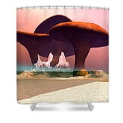 Giant Mushrooms Shower Curtain