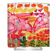 Giant Nutterbutterfly Shower Curtain