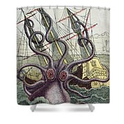 Giant Octopus Shower Curtain