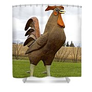 Giant Rooster Shower Curtain