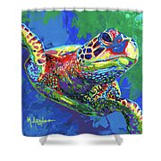 Giant Sea Turtle Shower Curtain