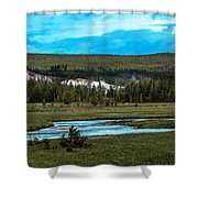 Gibbon River Valley Shower Curtain